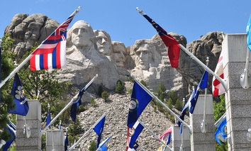 Mount Rushmore National Park in South Dakota.