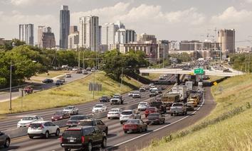 Traffic-clogged Austin, Texas