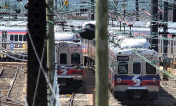 Some of the 120 Silverliner V railway cars taken out of service by SEPTA (Southeastern Pennsylvania Transportation Authority) are shown in the Powelton storage yard in West Philadelphia.