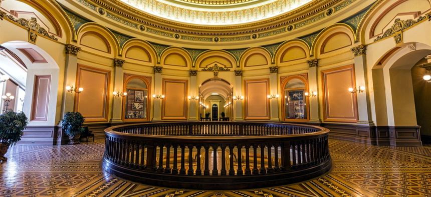 The Rotunda of the California State Capitol in Sacramento.