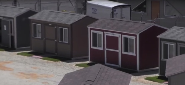 The 14Forward homeless shelter in Yuba County, California.