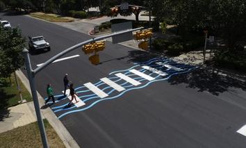 Austin, Texas' first 'creative crosswalk.'