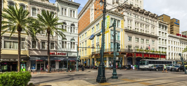 Canal Street in New Orleans, Louisiana