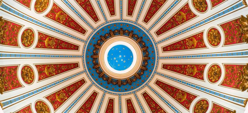 The Rotunda of the Pennsylvania State Capitol in Harrisburg.