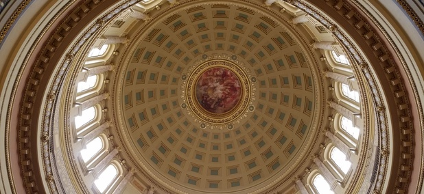 In the Rotunda of the Wisconsin State Capitol