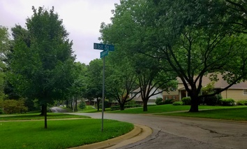 Notice anything missing hanging over the leafy streets of Leawood, Kansas?