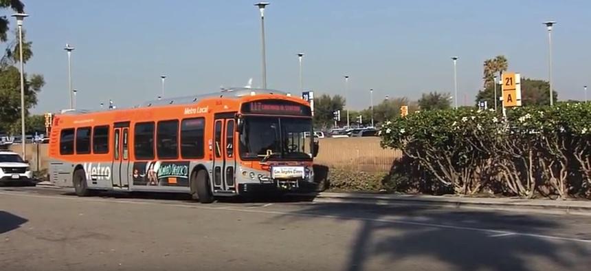 A CNG L.A. Metro bus.
