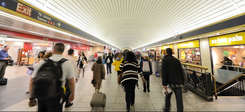 Penn Station is North America's busiest rail passenger hub.