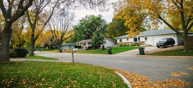 A residential area in Minneapolis, Minnesota