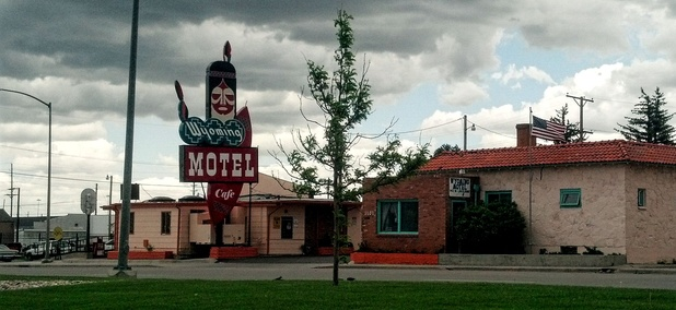 A motel greets travelers heading into Cheyenne, Wyoming on West Lincolnway.
