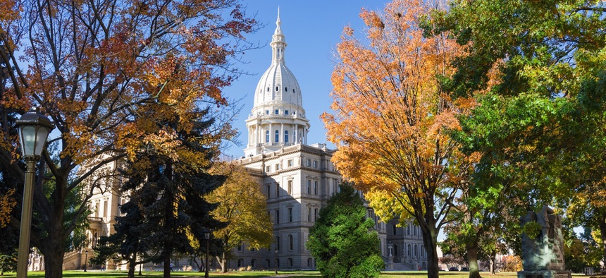 Michigan State Capitol building.