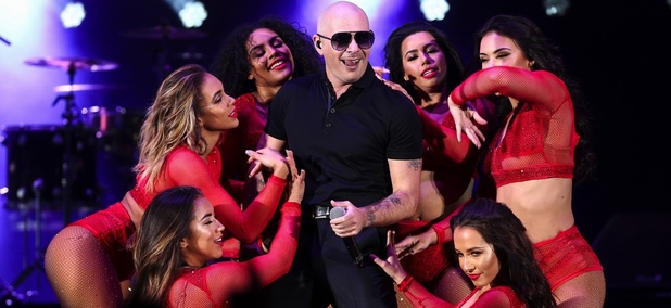 "Pitbull performs at the 4th Annual ""We Can Survive"" Concert held at the Hollywood Bowl on Saturday, Oct. 22, 2016, in Los Angeles."