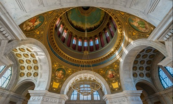 The Rotunda of the Rhode Island State House in Providence.