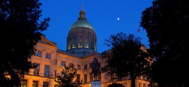 The Georgia State Capitol.
