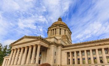 The Washington State Capitol.