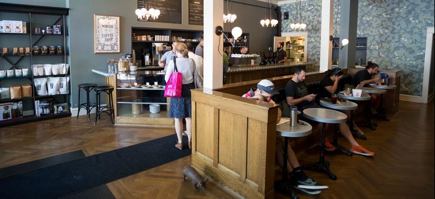 A coffee shop on NW 23rd Avenue in Portland, Oregon.