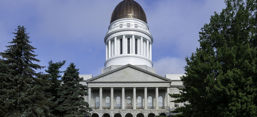 The Maine State House in Augusta