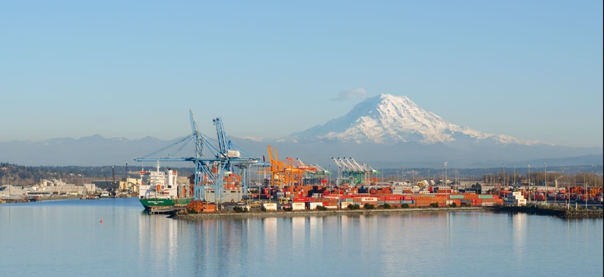 The Port of Tacoma, Washington