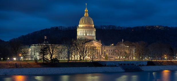 The West Virginia State Capitol in Charleston.