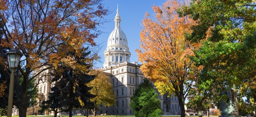 The Michigan State Capitol.
