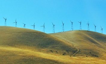 Wind turbines in California.