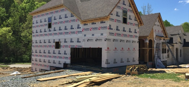 A new home under construction in Nashville, Tennessee.