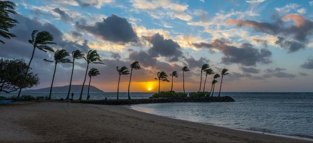 Maunalua Bay in Kahala on Oahu
