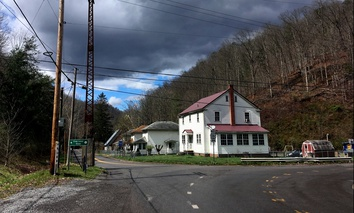 The intersection of Tennessee Avenue and Frog Level Road in Coalwood, West Virginia