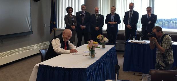 Mayor Richard Beneville of Nome, Alaska