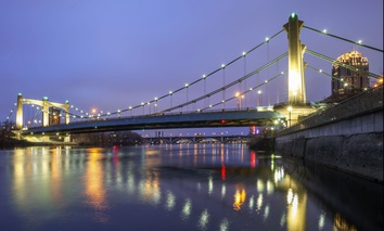 The Hennepin Avenue Bridge in Minneapolis.