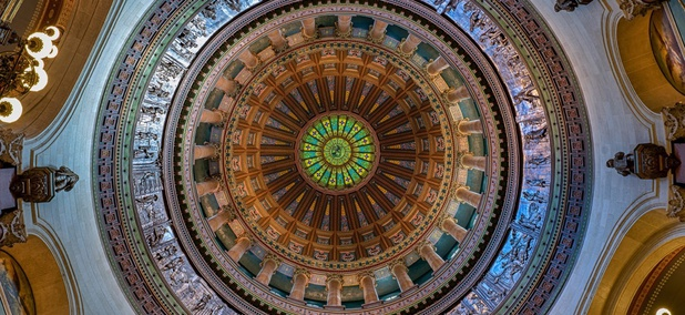 The rotunda in the Illinois State Capitol.