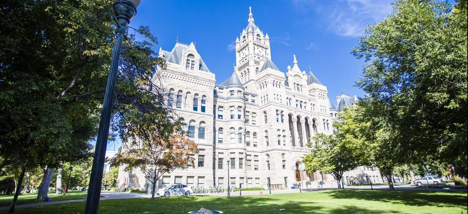 The Salt Lake City and County Building in Salt Lake City, Utah.