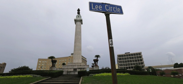 Confederate Gen. Robert E. Lee's monument in New Orleans.