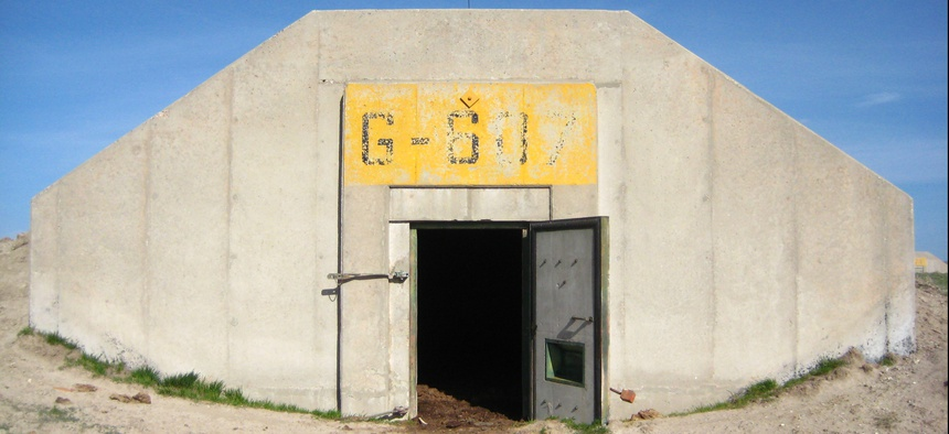 A former military ordnance bunker near Igloo, South Dakota