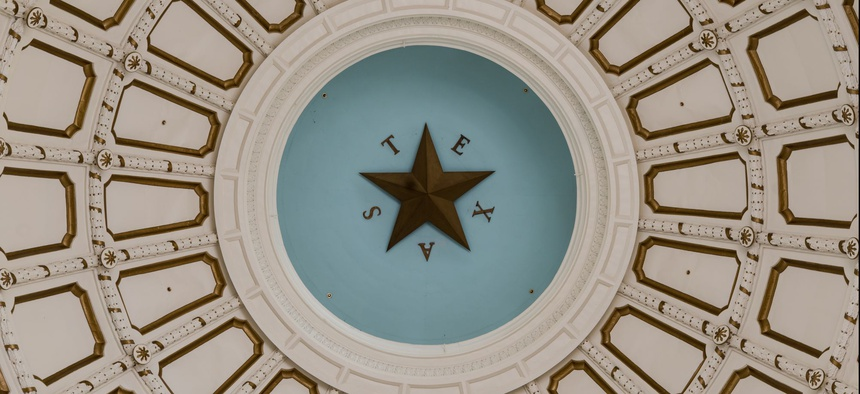 The Rotunda of the Texas State Capitol in Austin.