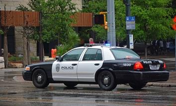 A police car in Austin, Tx.