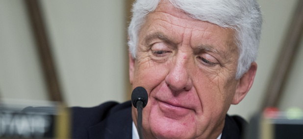 U.S. Rep. Rob Bishop, R-Utah, presides over an oversight hearing on Capitol Hill in Washington in 2016.