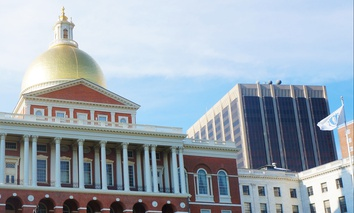 The Massachusetts State House in Boston