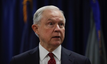Attorney General Jeff Sessions speaks at the U.S. Attorney's Office in Philadelphia on Friday.