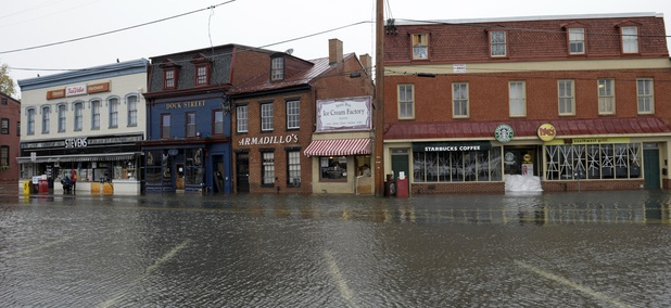 The historic waterfront in Annapolis, Md., is vulnerable to flooding.