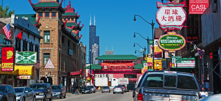 The Chinatown neighborhood in Chicago.