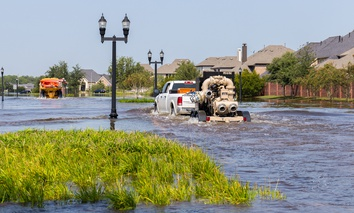 Flooding in Missouri City, Texas following Hurricane Harvey