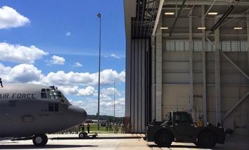 A C-130 cargo plane.