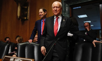 Senate Finance Committee Chairman Orrin Hatch and ranking member Ron Wyden.