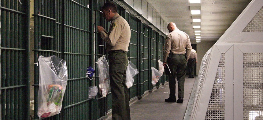 Men's Central Jail in Los Angeles County.