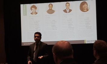 Georgia's chief digital officer, Nikhil J. Deshpande, speaks during a breakout session at the National Association of State Chief Information Officers annual conference last week in Austin, Texas.