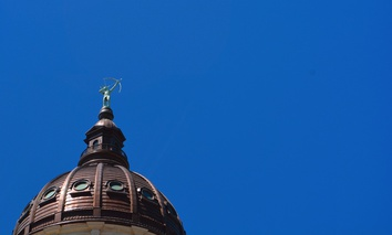 The Kansas State Capitol dome.