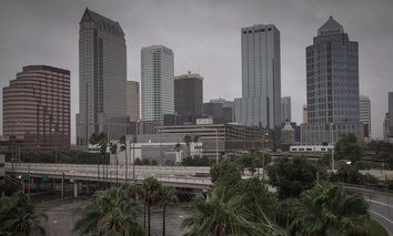 Hurricane Irma spared Tampa, Florida a direct hit in September.