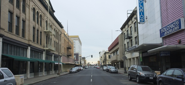 Main Street in downtown Stockton, California