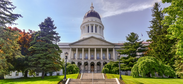 The Maine State Capitol in Augusta.